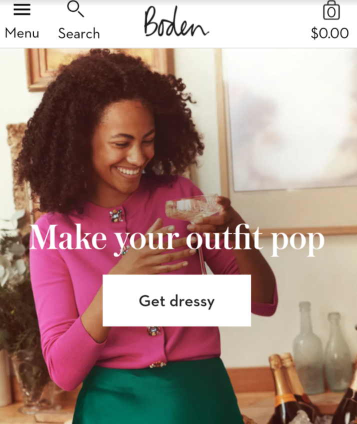 boden stylish call-to-action