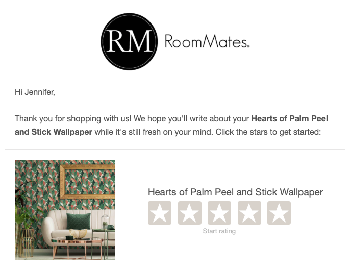 reviews email example