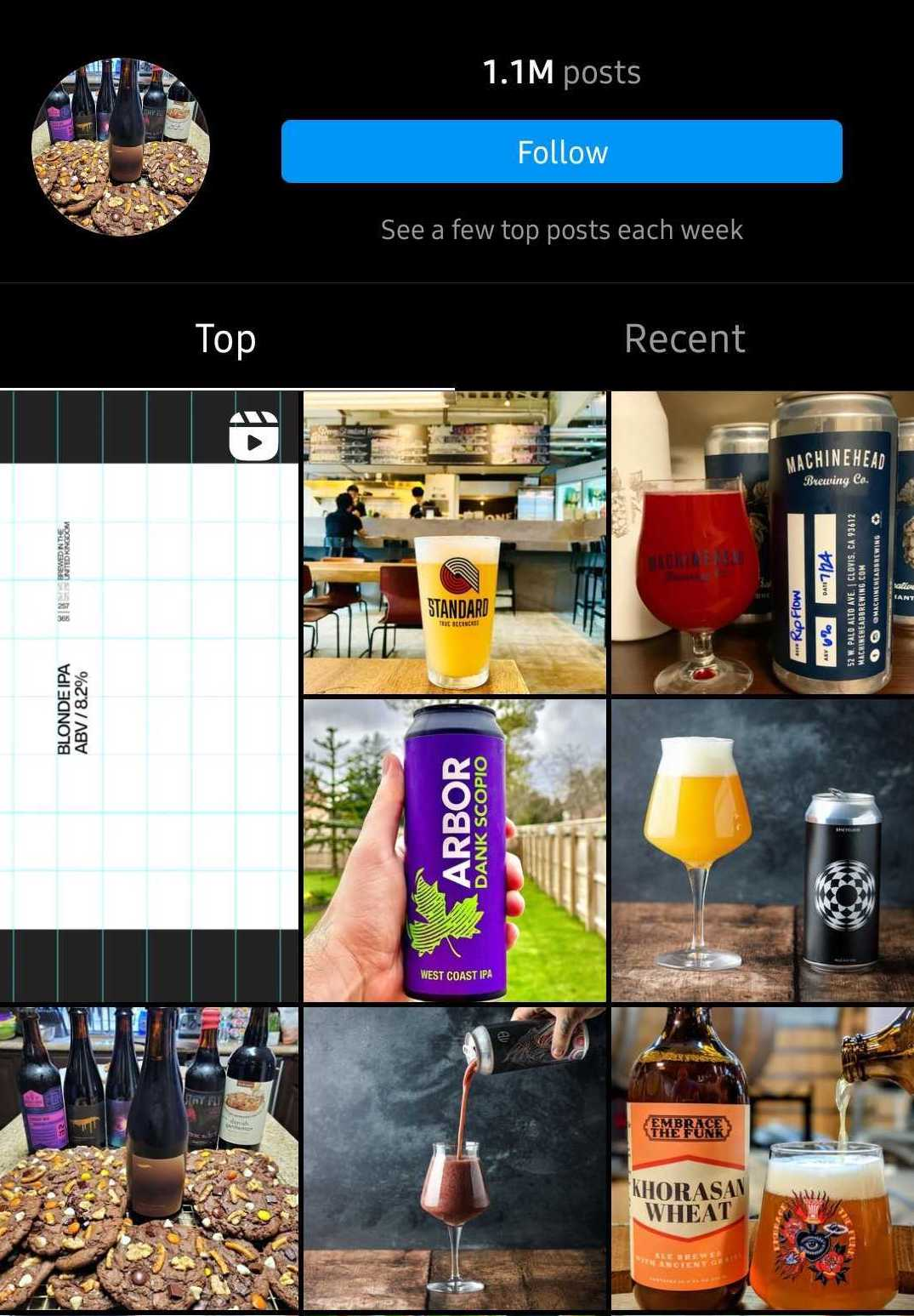 craft beer geek hashtag search results on instagram