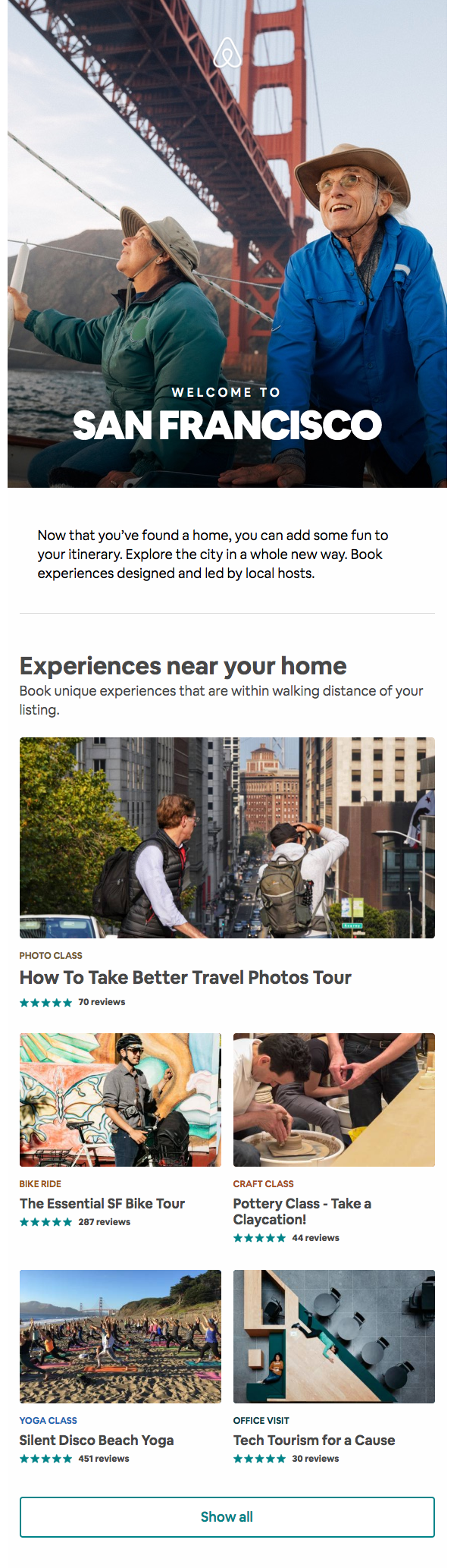 airbnb email marketing example